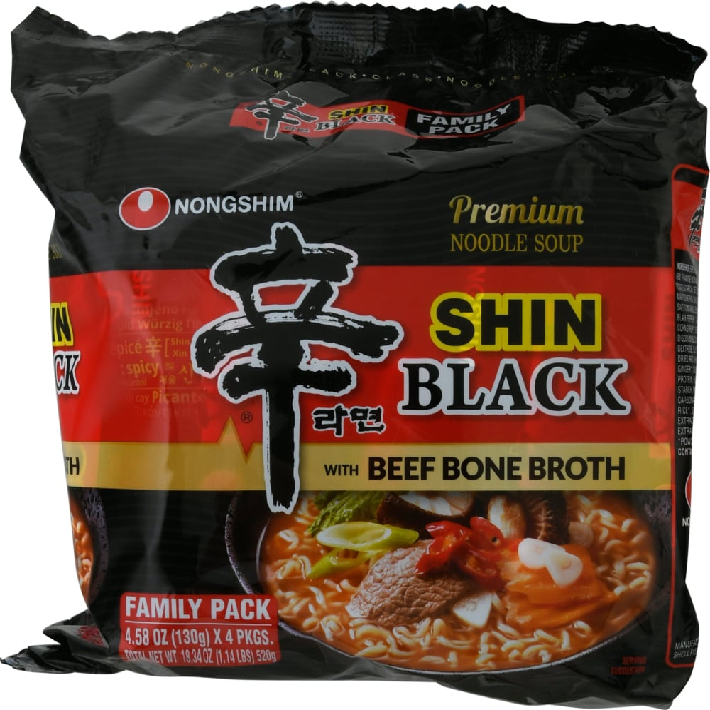 Nongshim Black Shin Noodle Soup Family