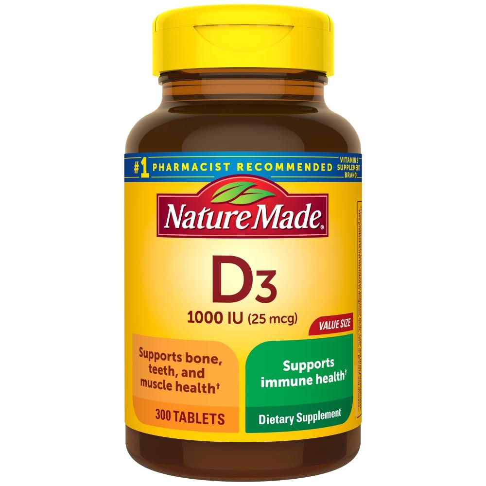 Kroger Nature Made Vitamin D3 Tablets 25mcg 300 Ct