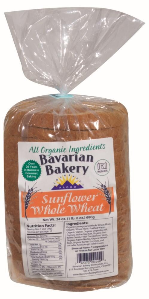 King Soopers Bavarian Bakery Organic Sunflower Whole Wheat Bread 24 Oz