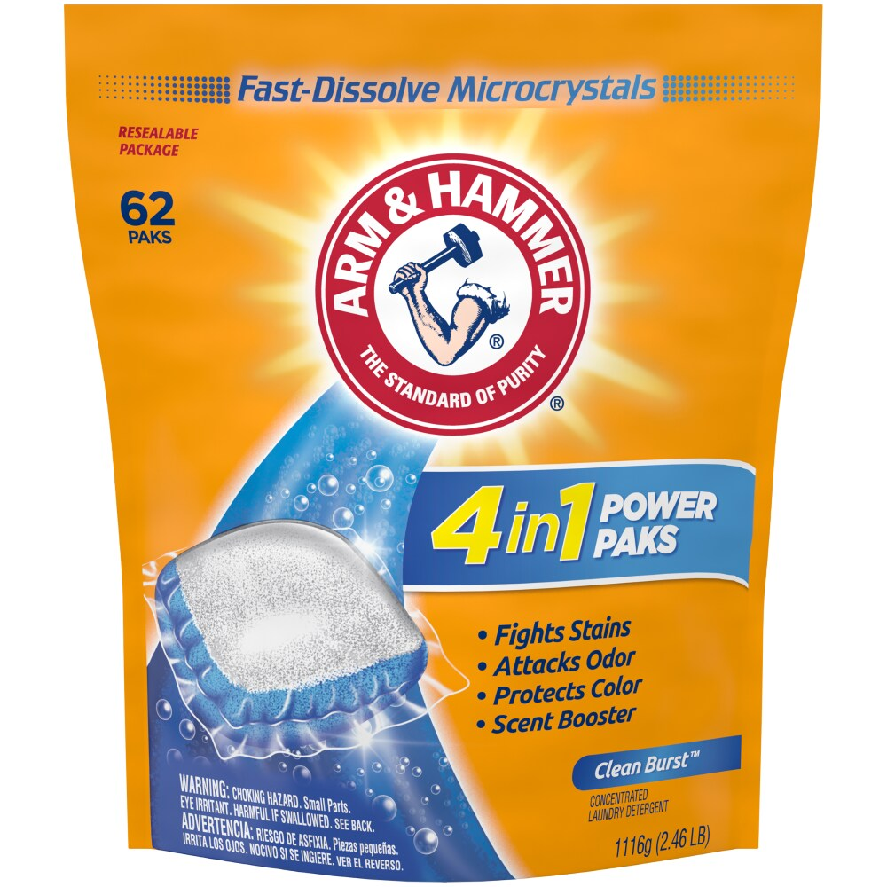 Copps - Arm & Hammer 2-in-1 Power Paks with Oxi Clean, 62 ct