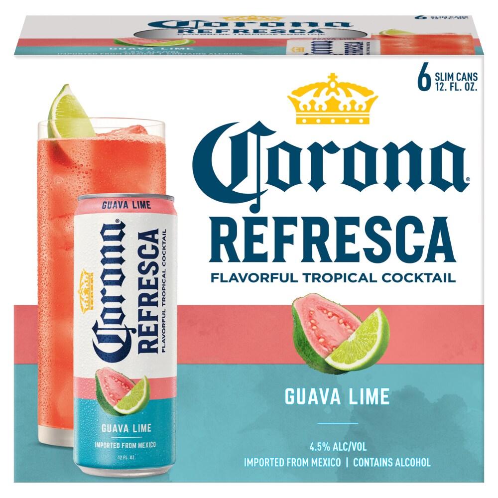 Mariano S Corona Refresca Guava Lime 6 Cans 12 Fl Oz