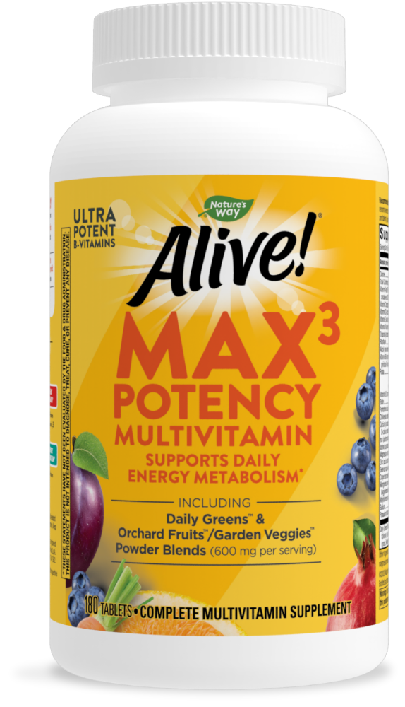 Food 4 Less Nature S Way Alive Multivitamin Max Potency Tablets 180 Ct