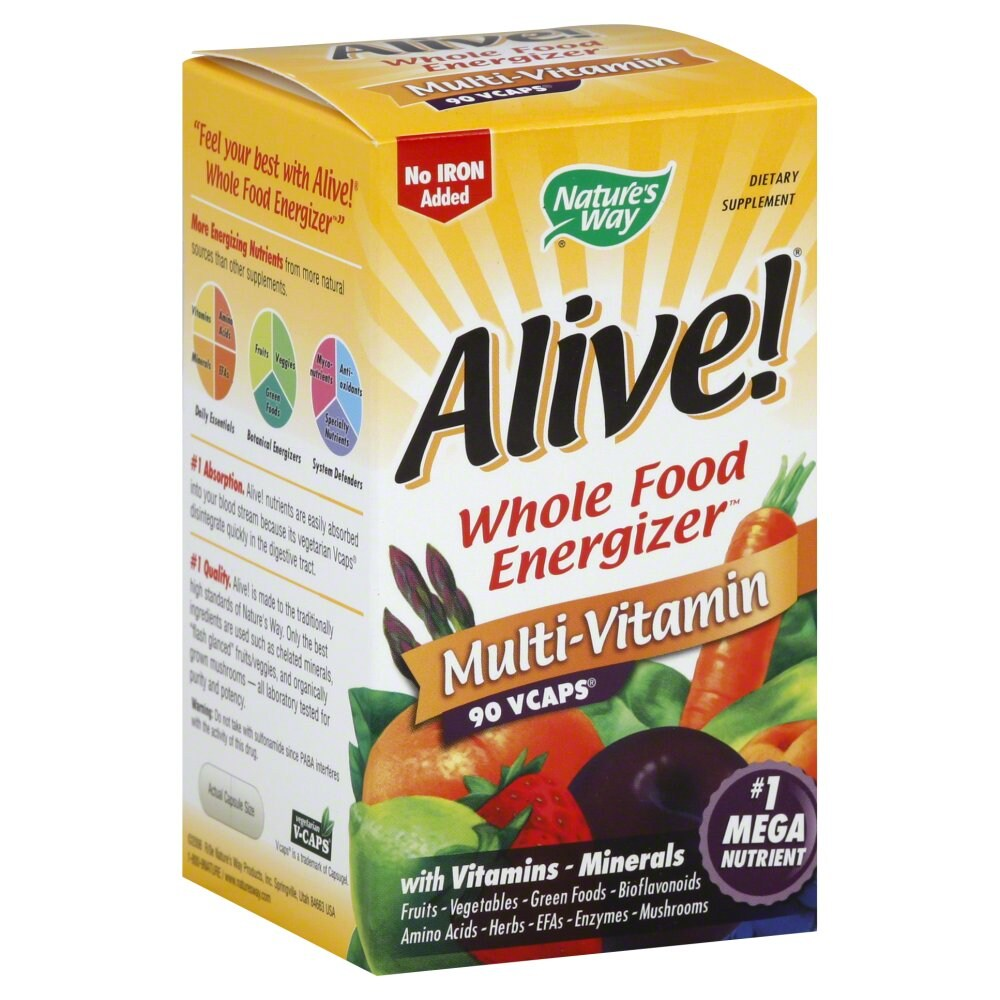 Fred Meyer Nature S Way Alive Iron Free Multivitamin Vcaps 90 Ct
