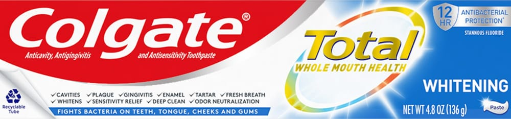 Pay Less Super Markets Colgate Total Sf Whitening Toothpaste 4 8 Oz