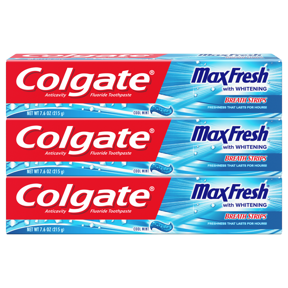 Kroger Colgate Max Fresh Cool Mint With Whitening Breath Strips