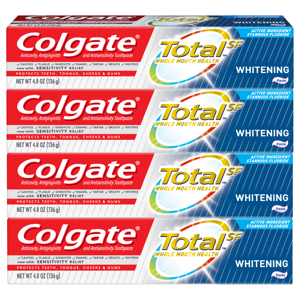 King Soopers Colgate Total Whitening Toothpaste 4 Ct 4 8 Oz