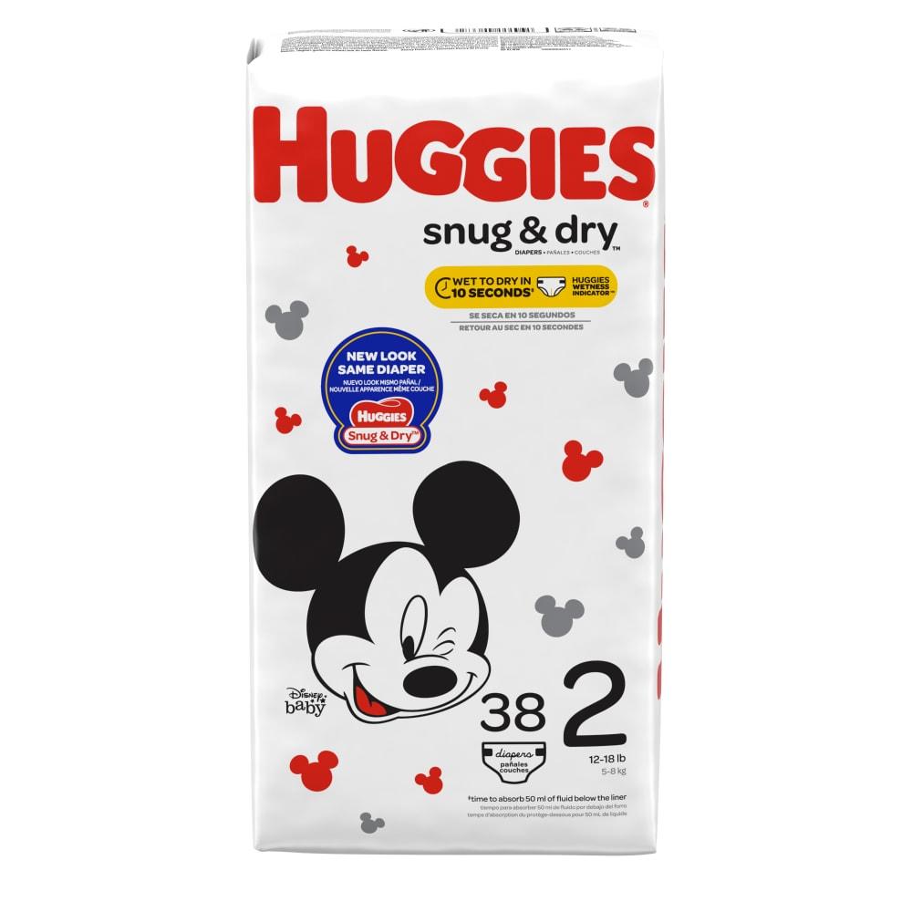 HUGGIES Snug Dry Diapers Size 2 Packaging May Vary