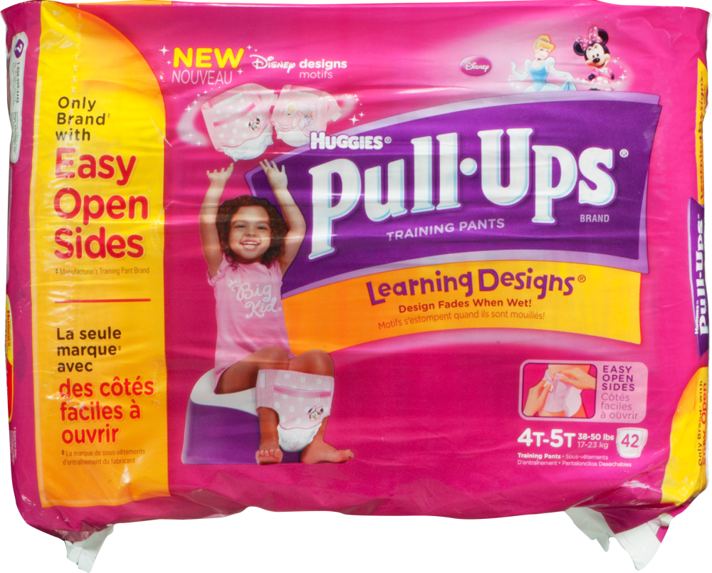 Huggies Pull-Ups Learning Design Size 4t-5t Training Pants For Girls  Perspective: