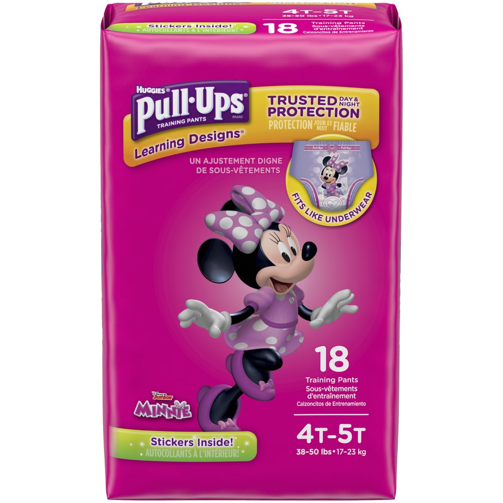 Pull-Ups Learning Designs for Girls Potty Training Pants 18 Ct. Packaging May Vary 4T-5T 38-50 lbs.