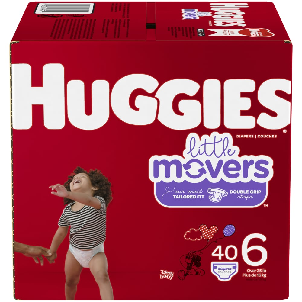 HUGGIES Little Movers Diapers Size 6 104 Count Packaging May Vary
