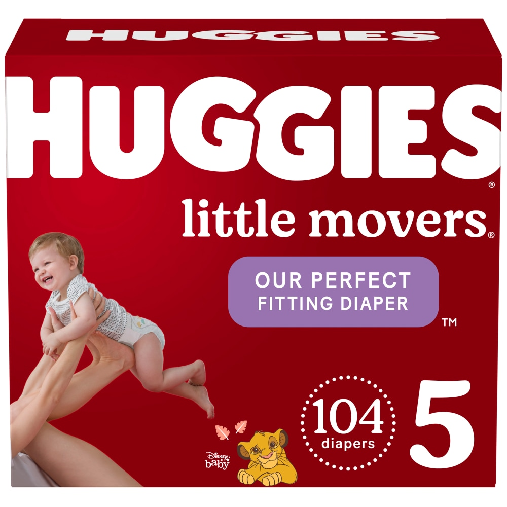 104 Ct 104 count Size 3 Huggies Snug /& Dry Baby Diapers