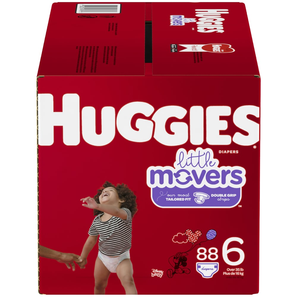 Huggies Little Movers Plus Diapers Size 6 BRAND