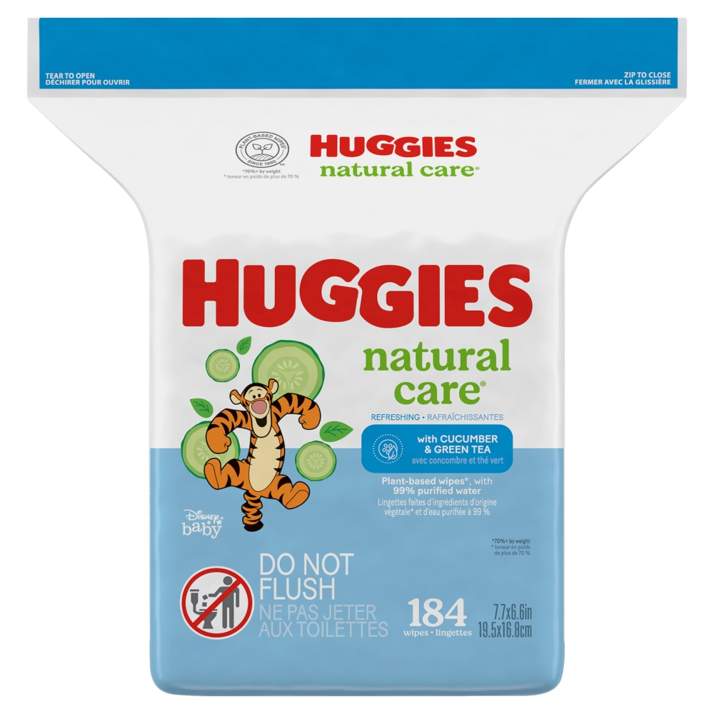 Hypoallergenic Refill Pack 184 Total Wipes HUGGIES Refreshing Clean Scented Baby Wipes