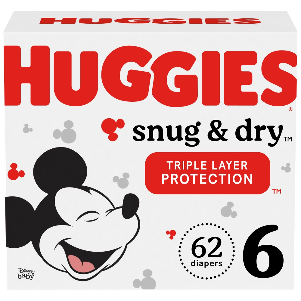 Size 1 200 Ct 200 count Huggies Snug /& Dry Baby Diapers