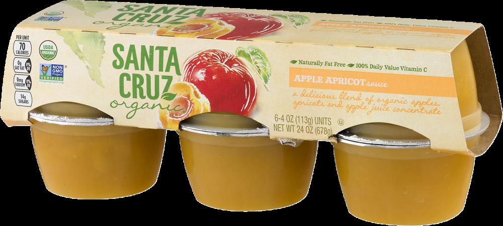 Kroger - Santa Cruz Organic Apple Apricot Sauce, 6 ct / 4 oz