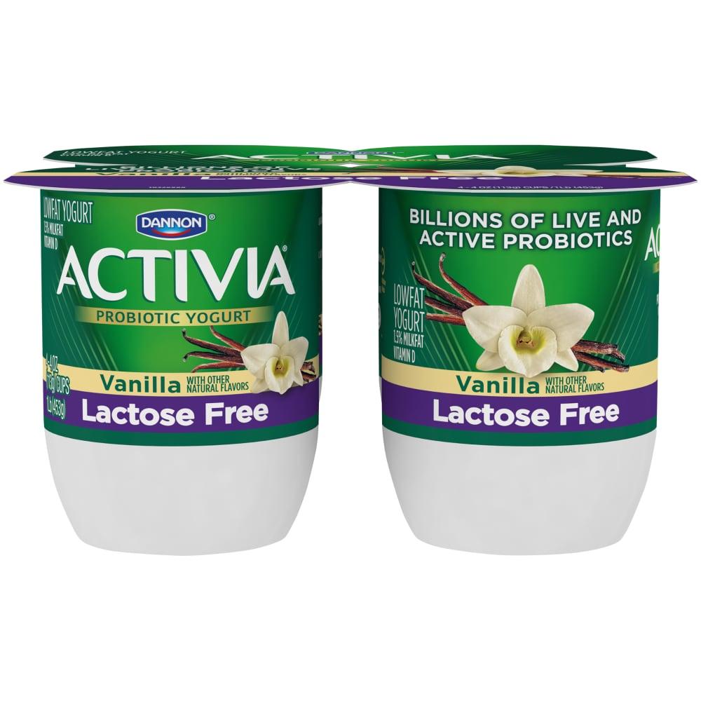 Activia Lactose Free Vanilla Probiotic