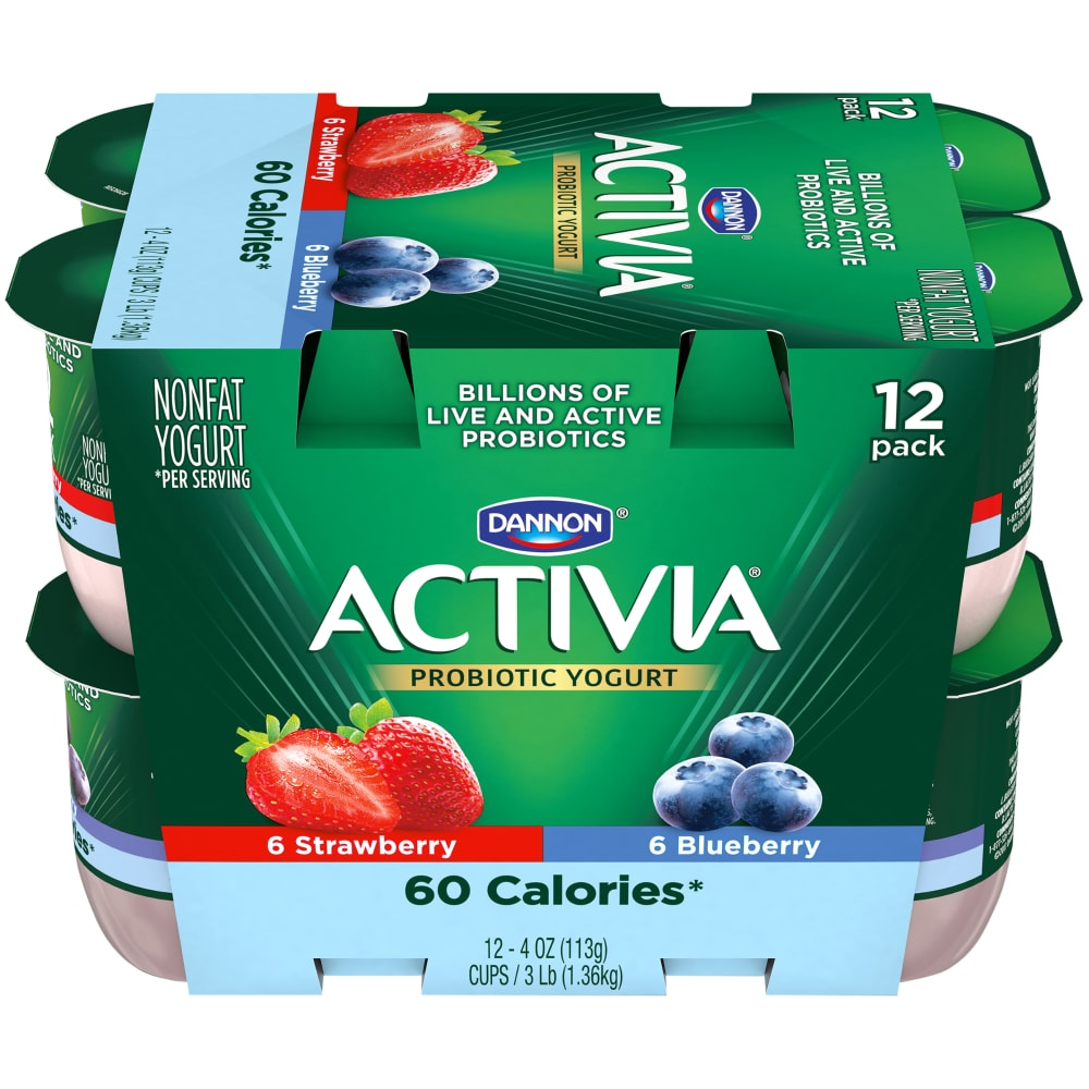 Dannon Activia Light Blueberry & Strawberry Yogurt