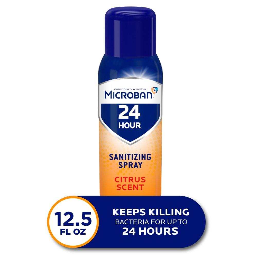 Kroger Microban Citrus Scent 24 Hour Disinfectant Sanitizing Spray 12 5 Oz