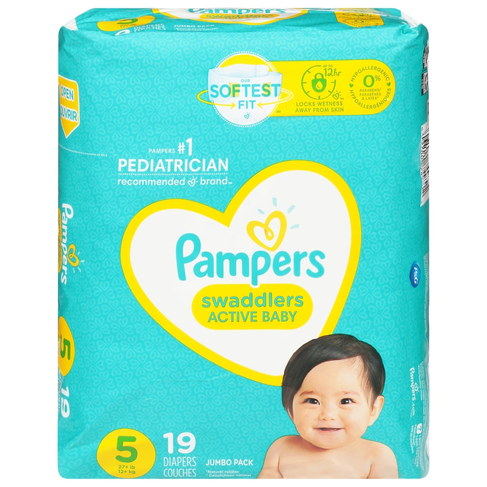 Pampers Swaddlers Diapers Size 5 Jumbo Pack