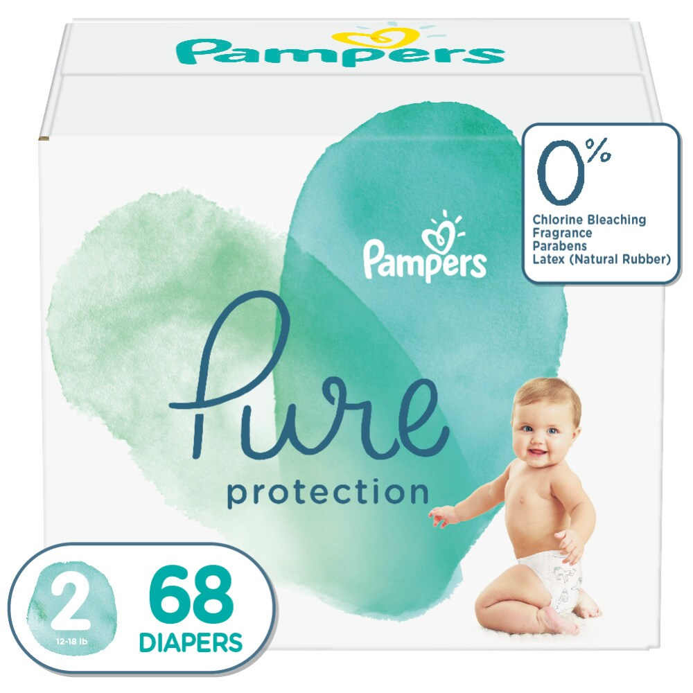 24 Pampers Pure Protection Nappies Size 5 11+kg 24+lbs