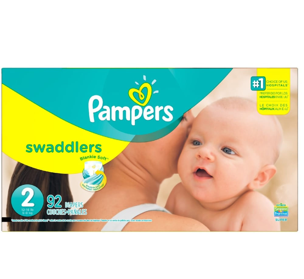 Pampers Swaddlers Size 2 Diapers Perspective Front
