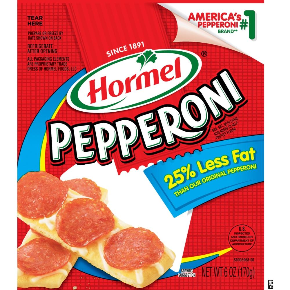 Kroger - Hormel 25% Less Fat Pepperoni