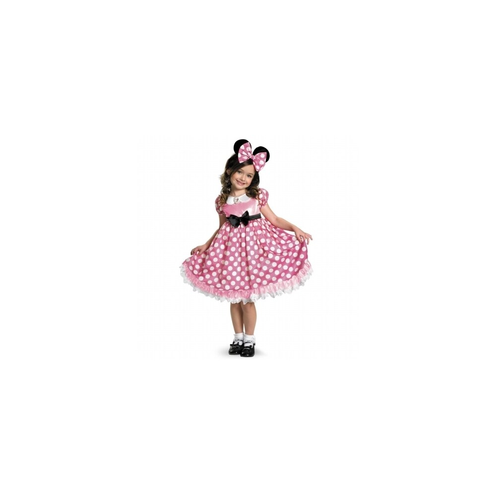 pick n save disguise disney mickey mouse clubhouse pink minnie mouse glow in the dark toddler costume 3t 1 pick n save