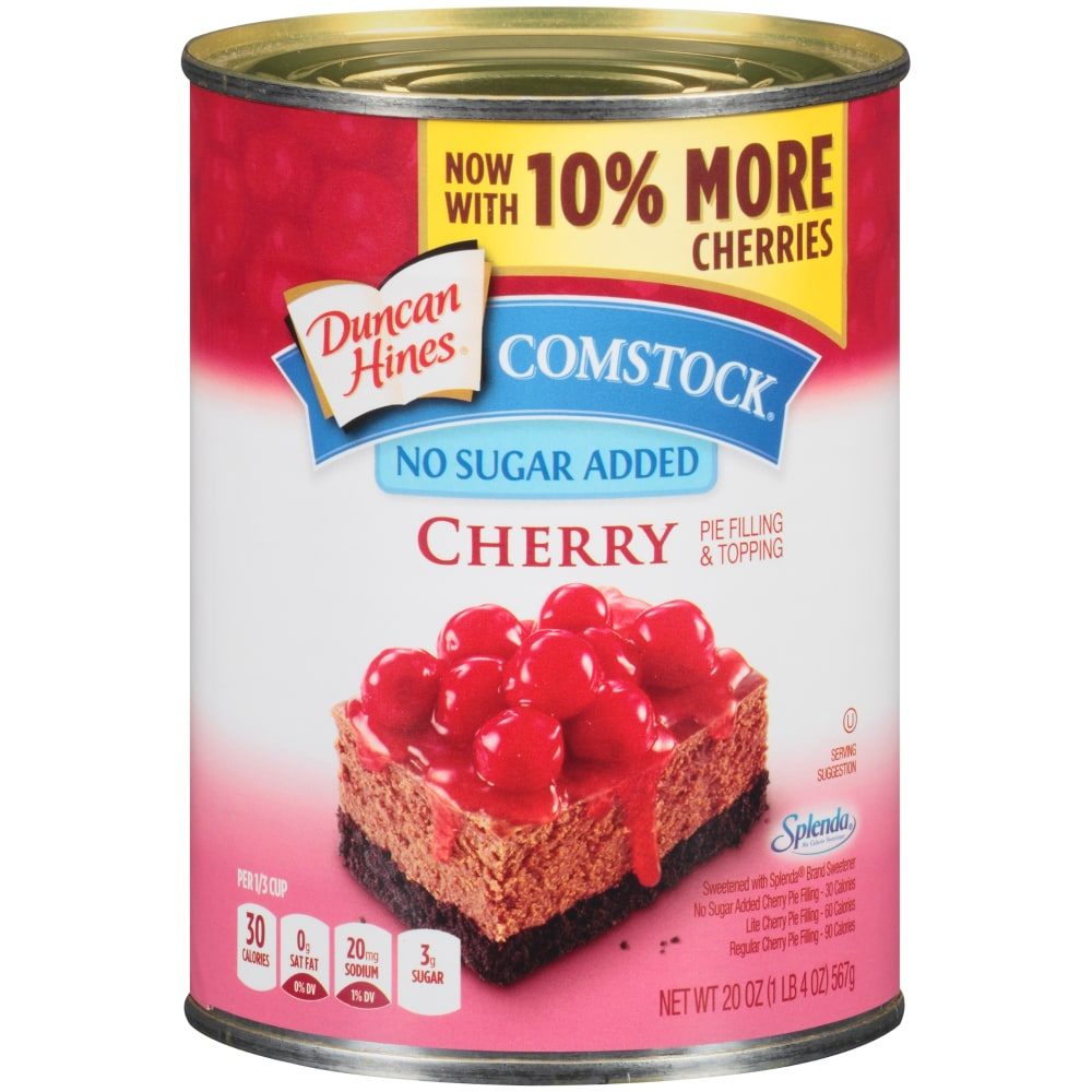 Duncan Hines Comstock No Sugar Added Cherry Pie Filling & Topping, 20 oz