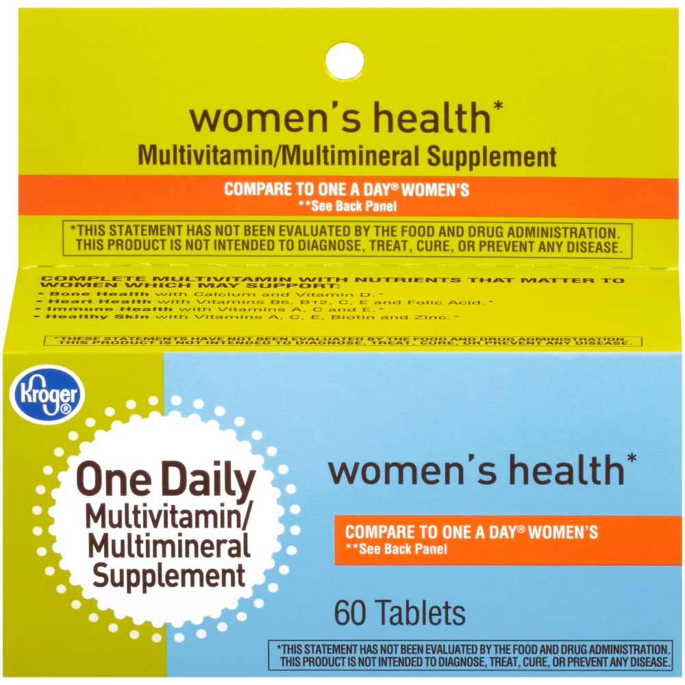 Fry S Food Stores Kroger Women S Multivitamin Tablets 60 Ct