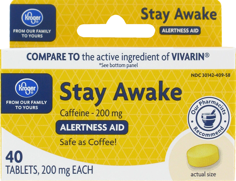 Kroger - Kroger® Stay Awake Tablets, 40 ct