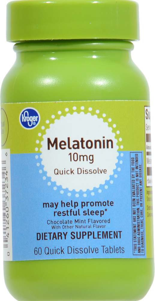 Foods Co  - Kroger® Melatonin 10 mg Quick Dissolve Tablets, 60 ct