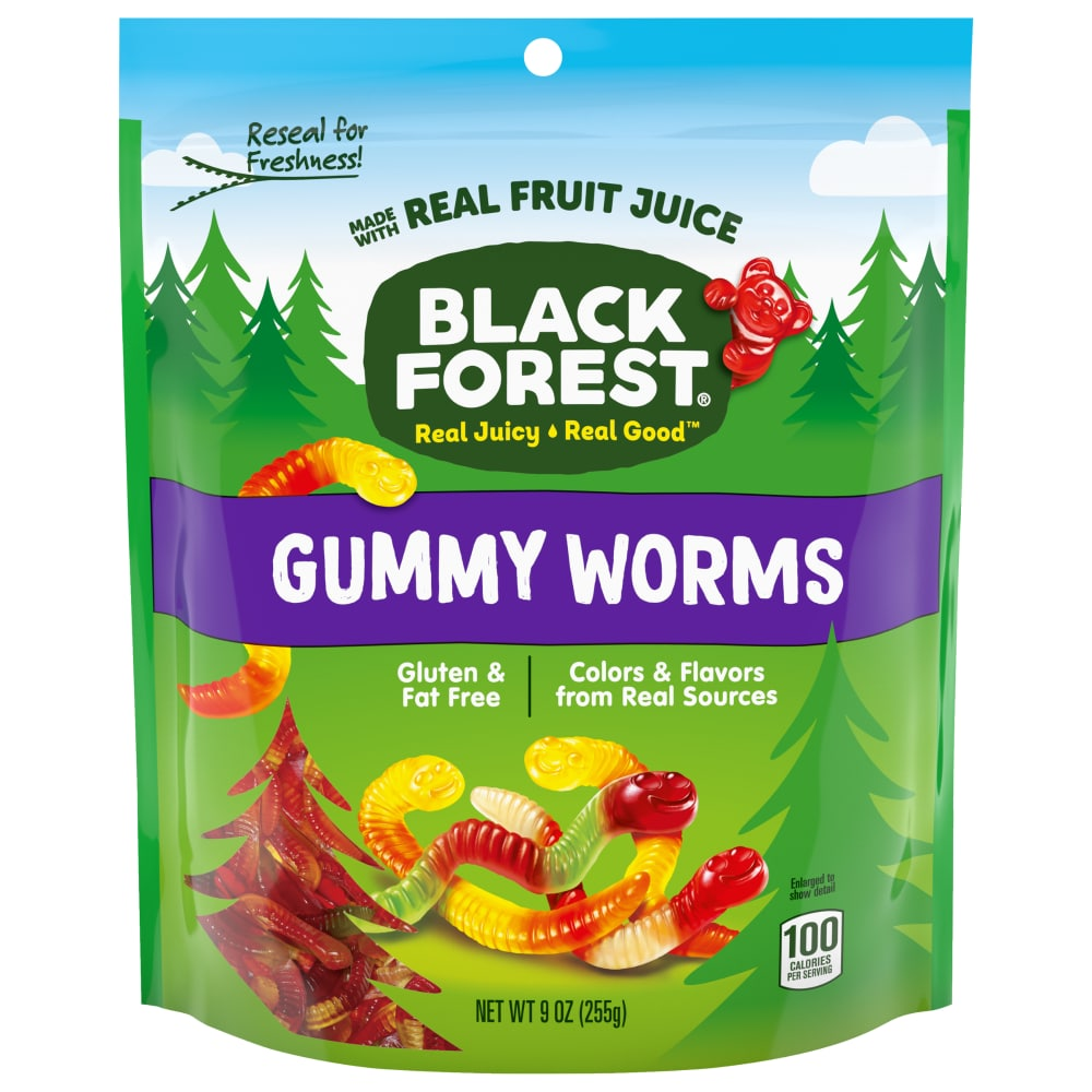 Kroger - Black Forest Gummy Worms, 9 oz