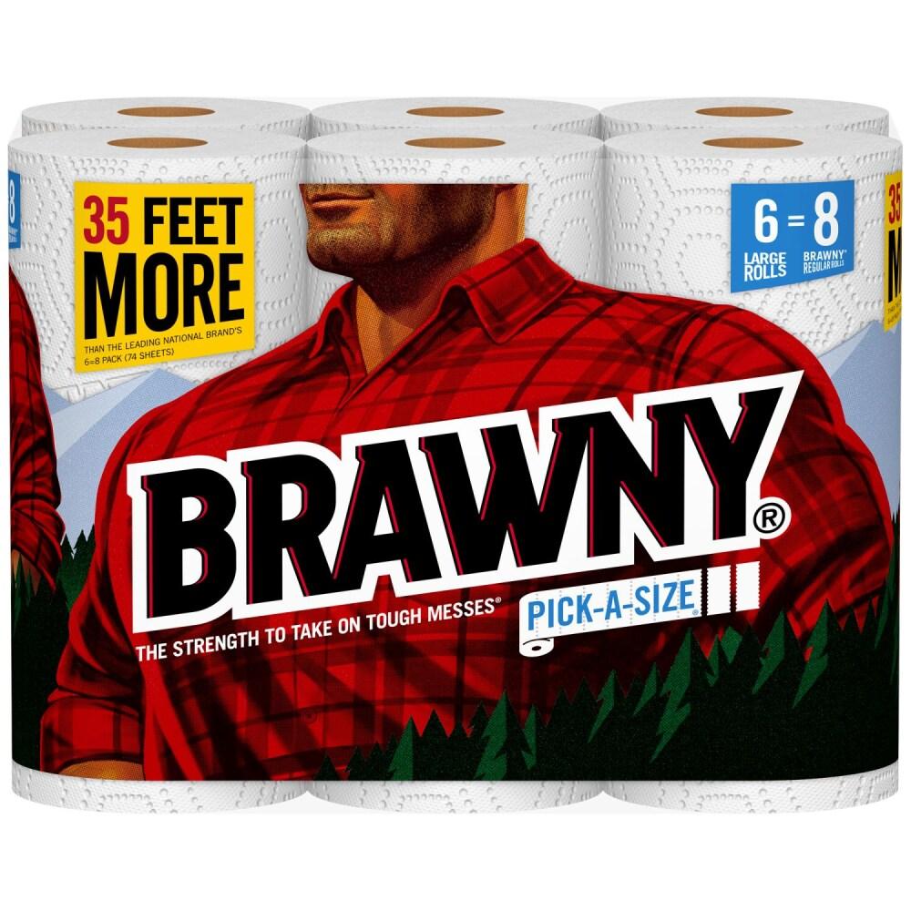 Kroger Brawny Large Roll Paper Towels Pick A Size Sheets White