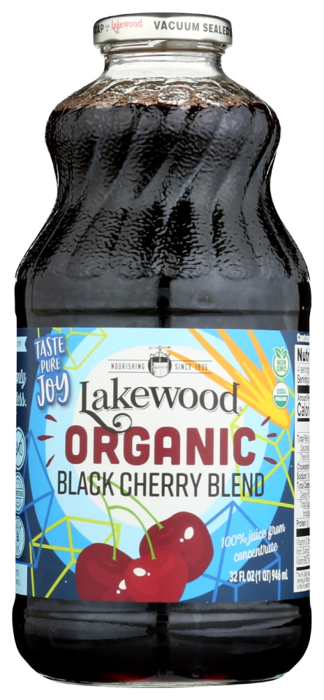 Kroger Lakewood Organic Pure Black Cherry Juice 32 Fl Oz
