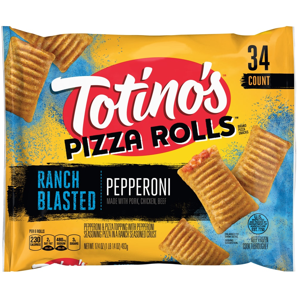 kroger - totino's pizza rolls ranch blasted pepperoni