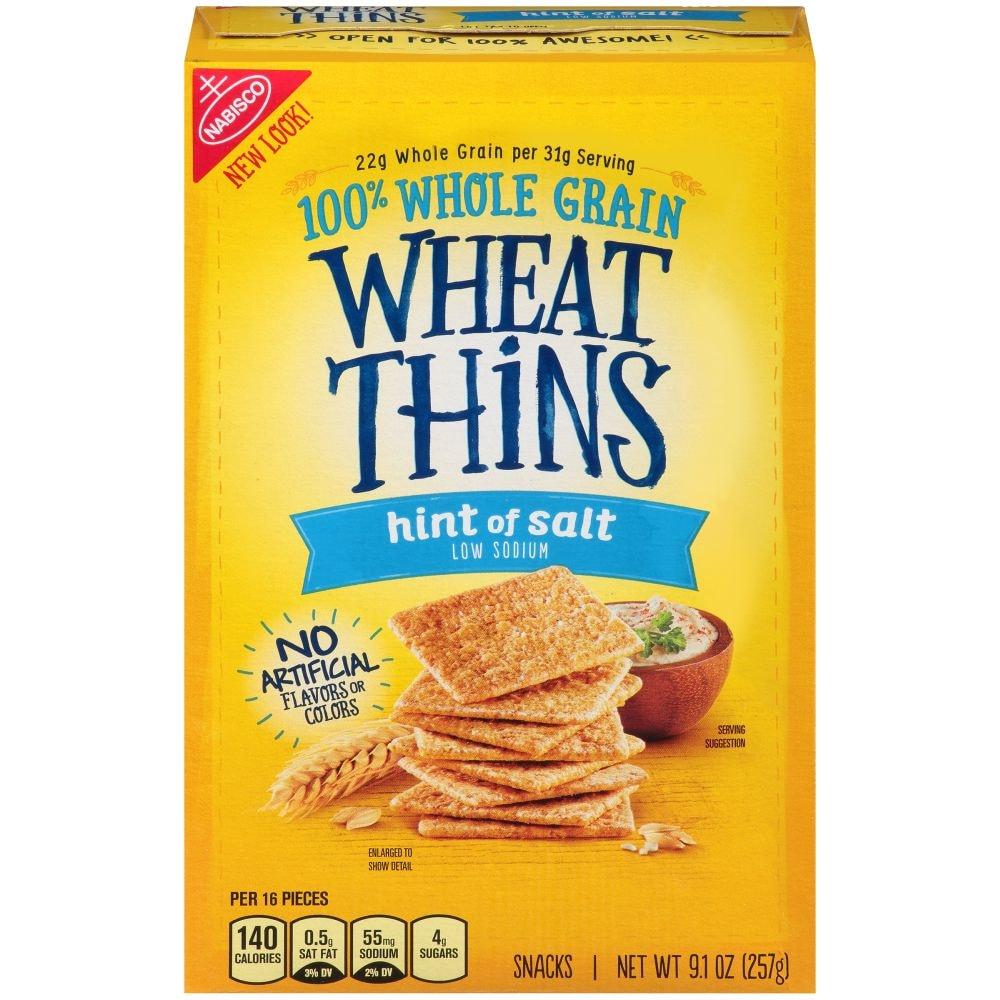 Wheat Thins Hint Of Salt Low Sodium Crackers 9 1 Oz