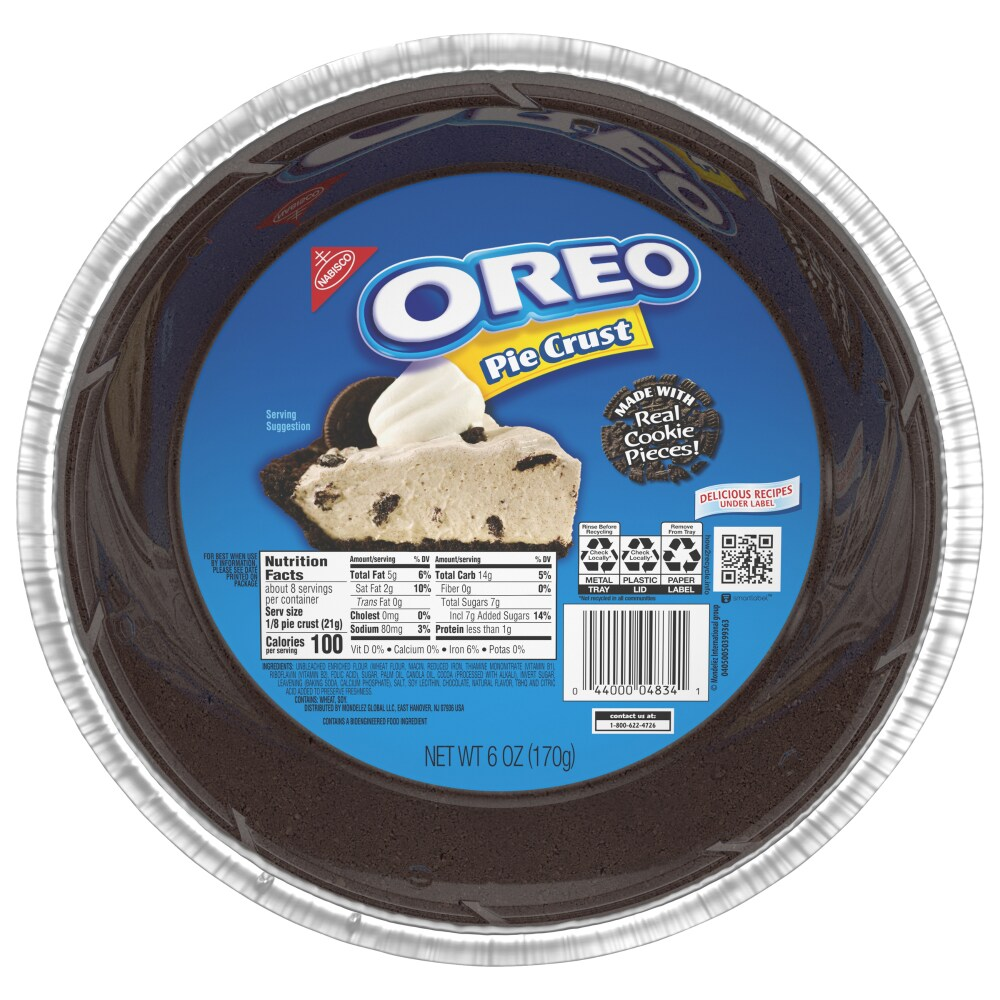 Oreo Pie Crust, 12 oz   Foods Co.