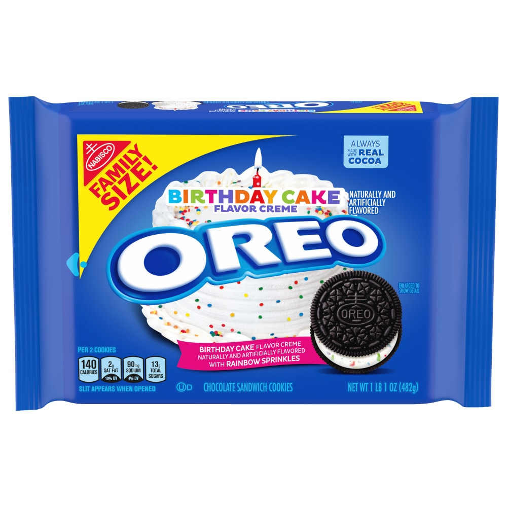 Outstanding Food 4 Less Oreo Birthday Cake Flavored Creme Chocolate Sandwich Funny Birthday Cards Online Alyptdamsfinfo