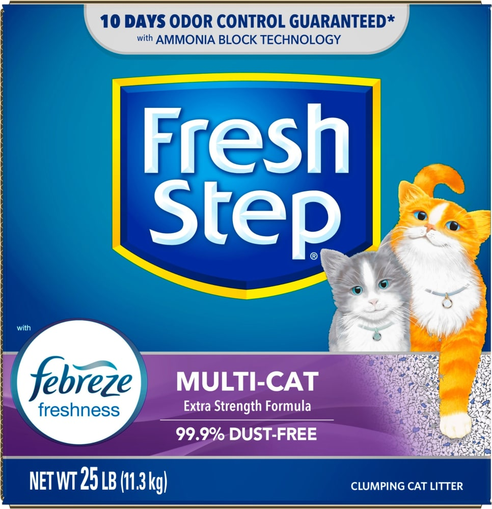 Kroger Fresh Step Febreze Freshness Multi Cat Clumping Cat Litter 25 Lb