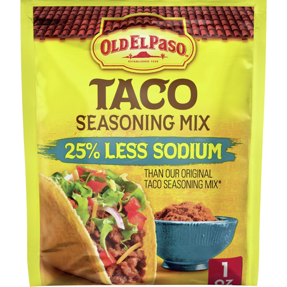 Old El Paso 25 Less Sodium Taco Seasoning Mix 1 Oz Kroger