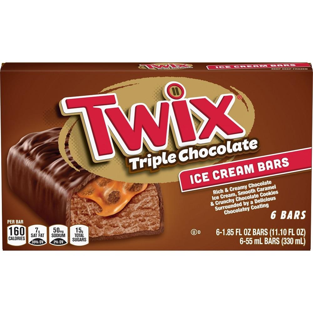Twix Triple Chocolate Ice Cream Bars