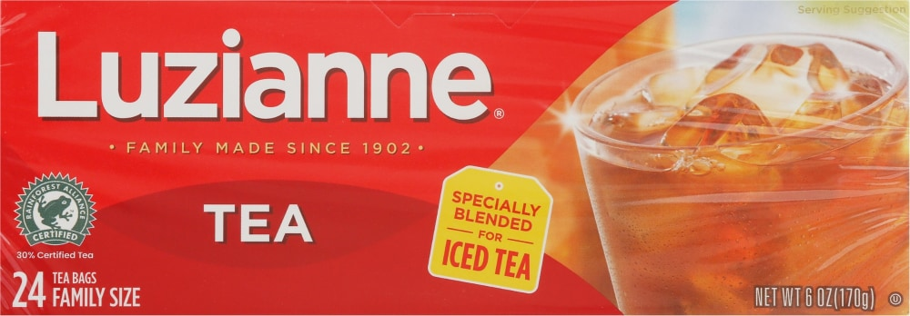 Luzianne Tea Bags Family Size Perspective Front