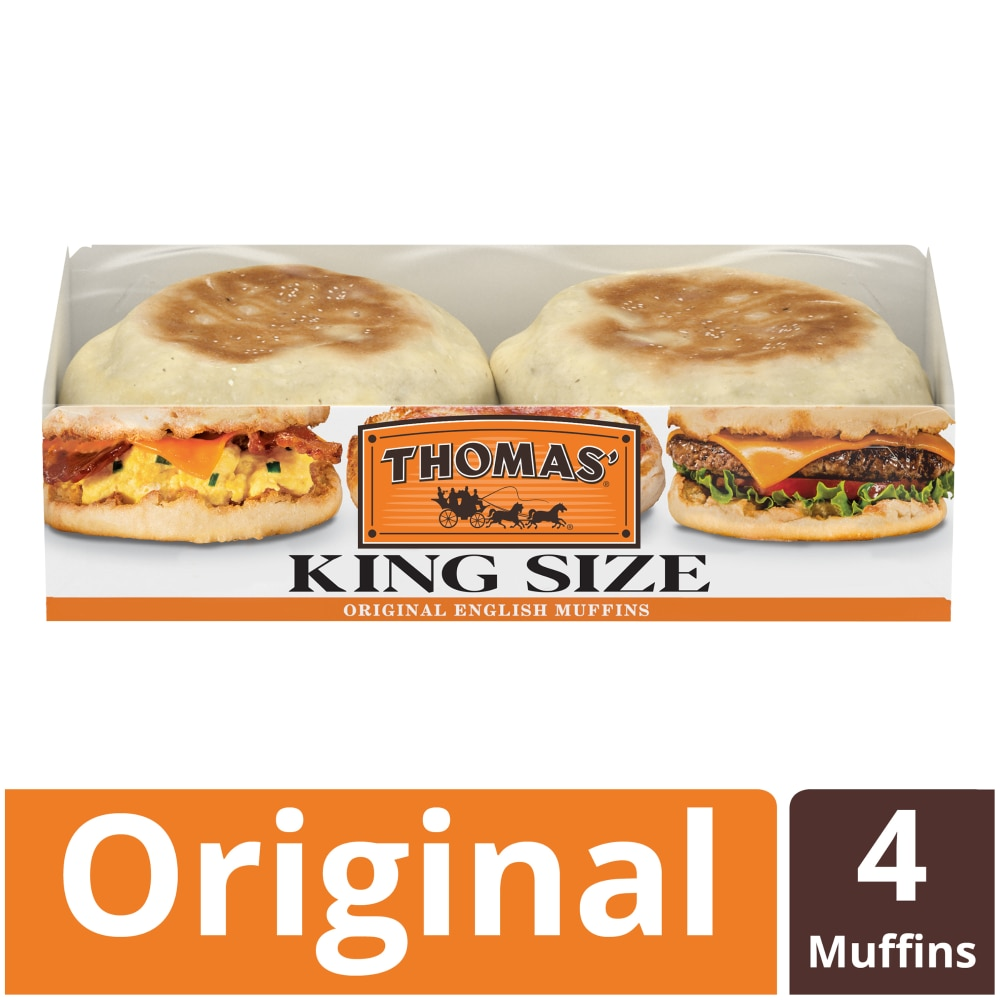 Pick N Save Thomas King Size Original English Muffins 4 Count 12 Oz