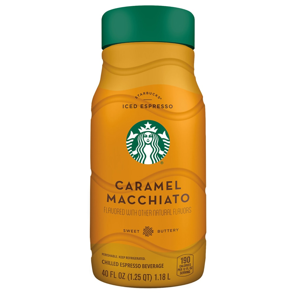 Mariano S Starbucks Iced Caramel Macchiato Chilled Espresso Coffee Bottle 40 Fl Oz