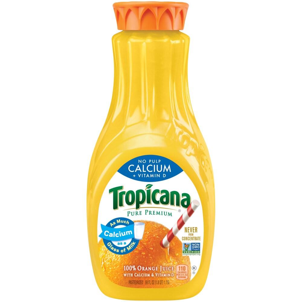 kroger - tropicana calcium orange juice no pulp with calcium