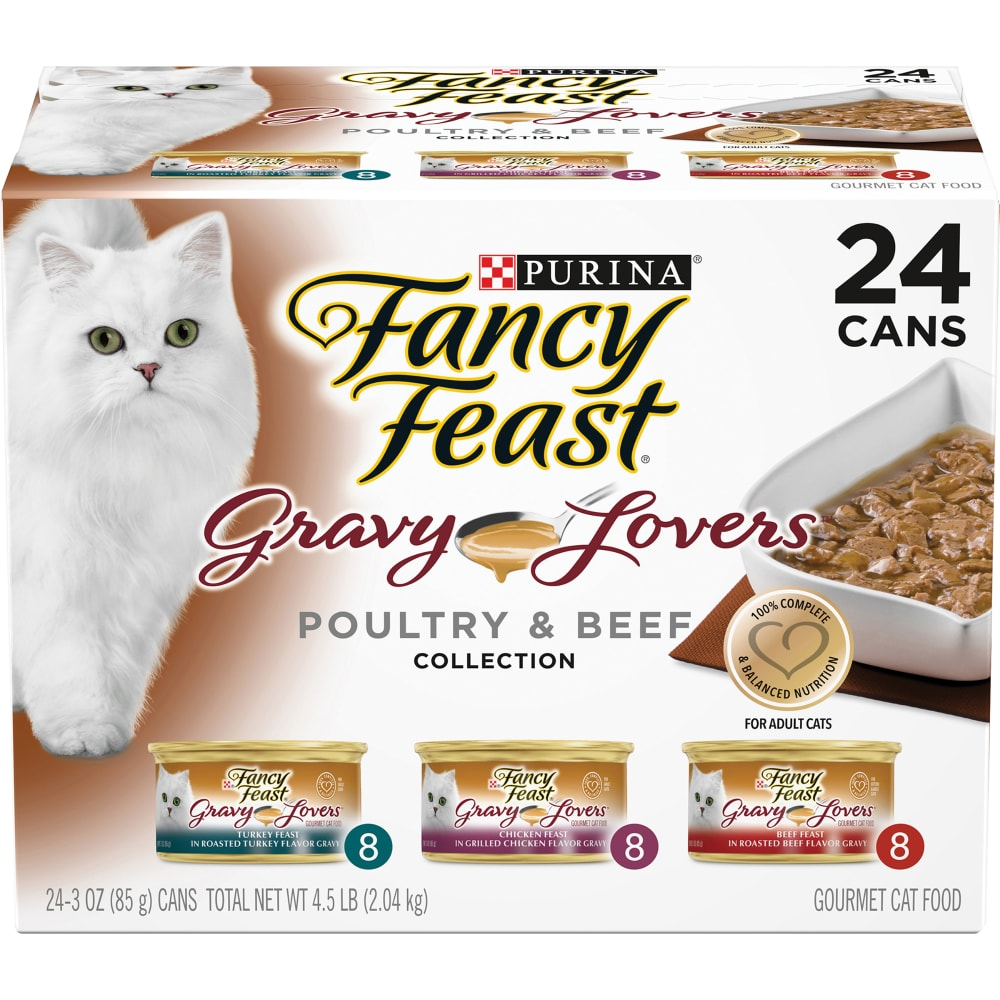 Kroger Fancy Feast Gravy Lovers Poultry Beef Collection Variety Pack 24 Ct 3 Oz