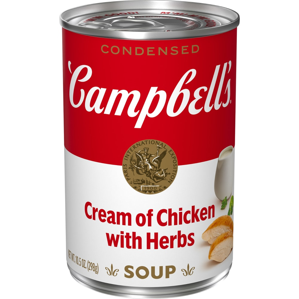 Campbell S Cream Of Chicken With Herbs Condensed Soup 10 5 Oz Qfc