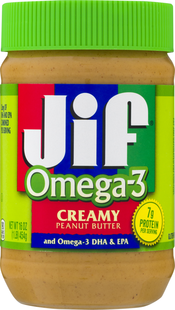 Jif Omega-3 Creamy Peanut Butter, 16 oz