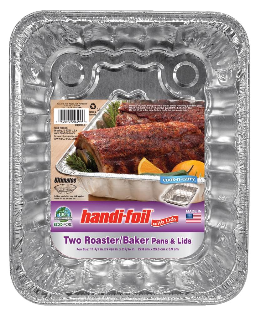 Handi FoilR Cook N CarryR Roaster Baker Pans And Lids