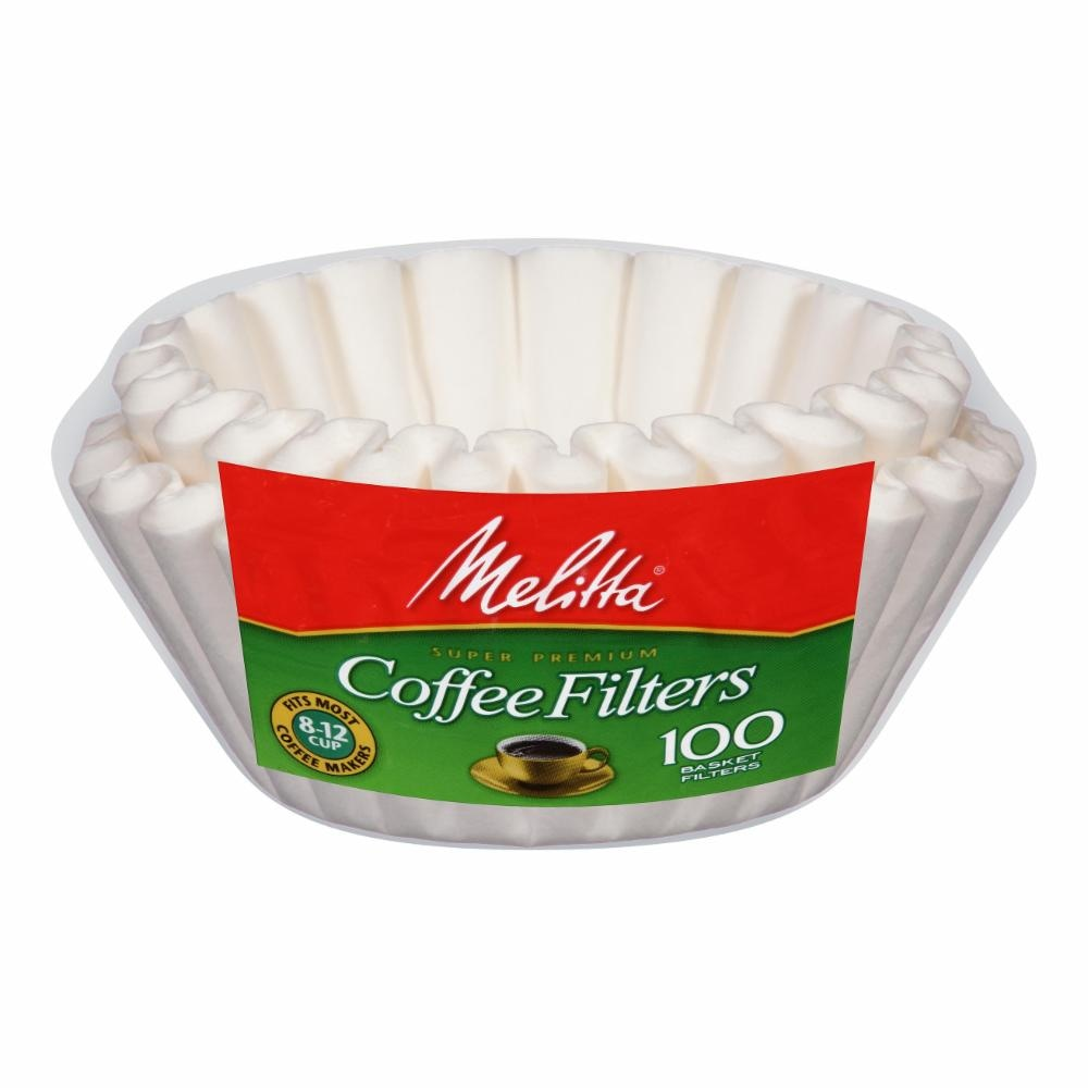 Kroger Melitta White Paper Basket Coffee Filters 8 12 Cup Size Fuel By Dimensions 100 Count Bag Perspective